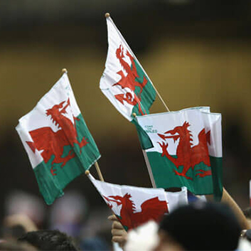 Rugby Match Day Welsh Flags