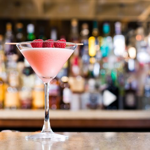 Enjoy a cocktail at the bar